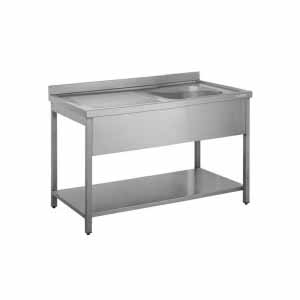 stainless steel commercial sink