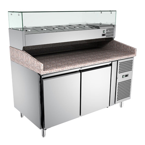pizza preparation chiller - LAVA INOX