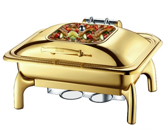 gold chafing dish buffet